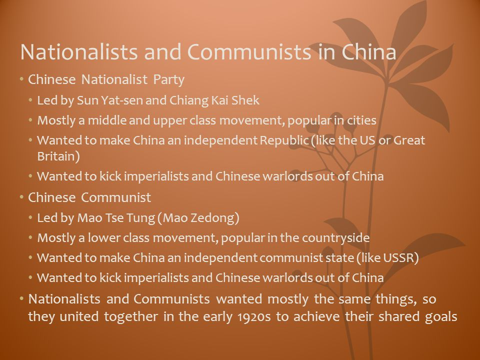 Nationalists and Communists in China