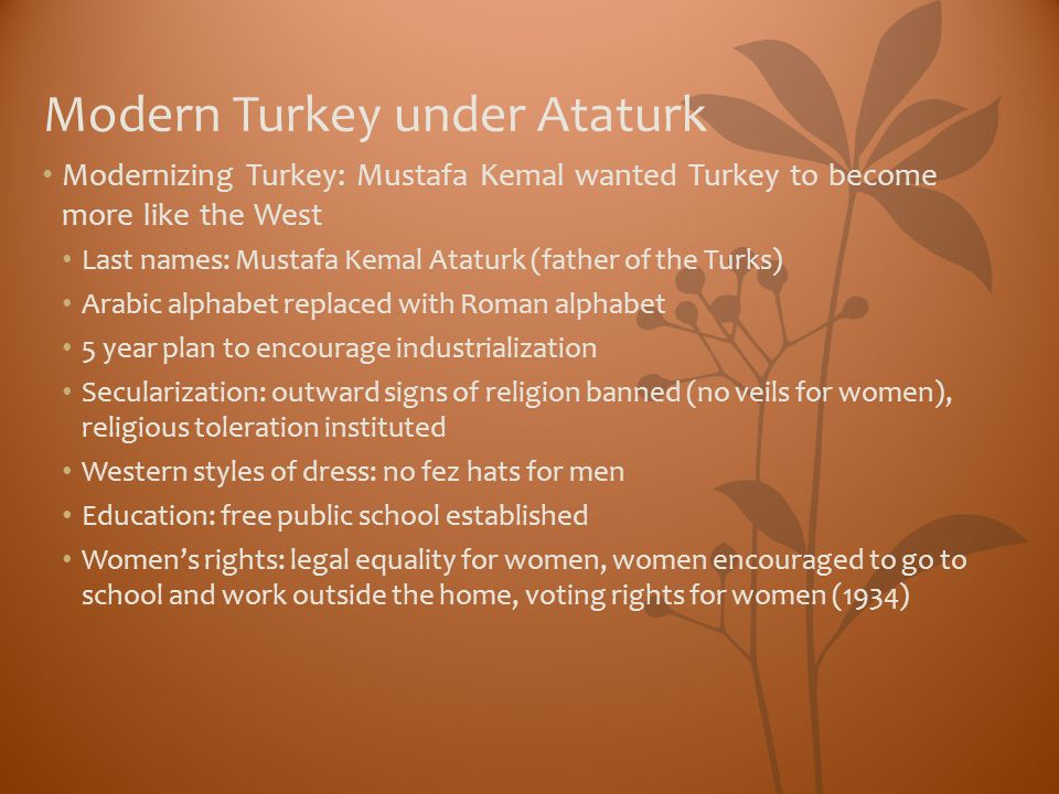 Modern Turkey under Ataturk