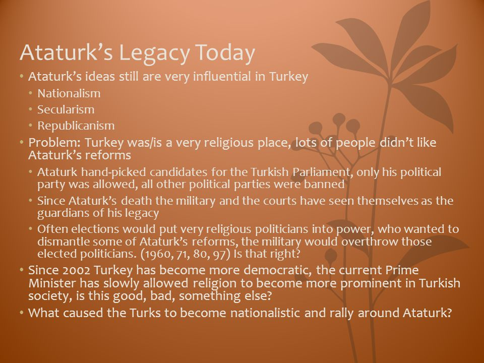 Ataturk's Legacy Today