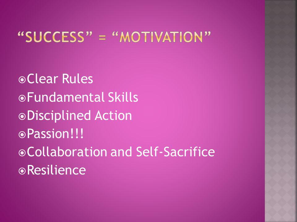 success = motivation
