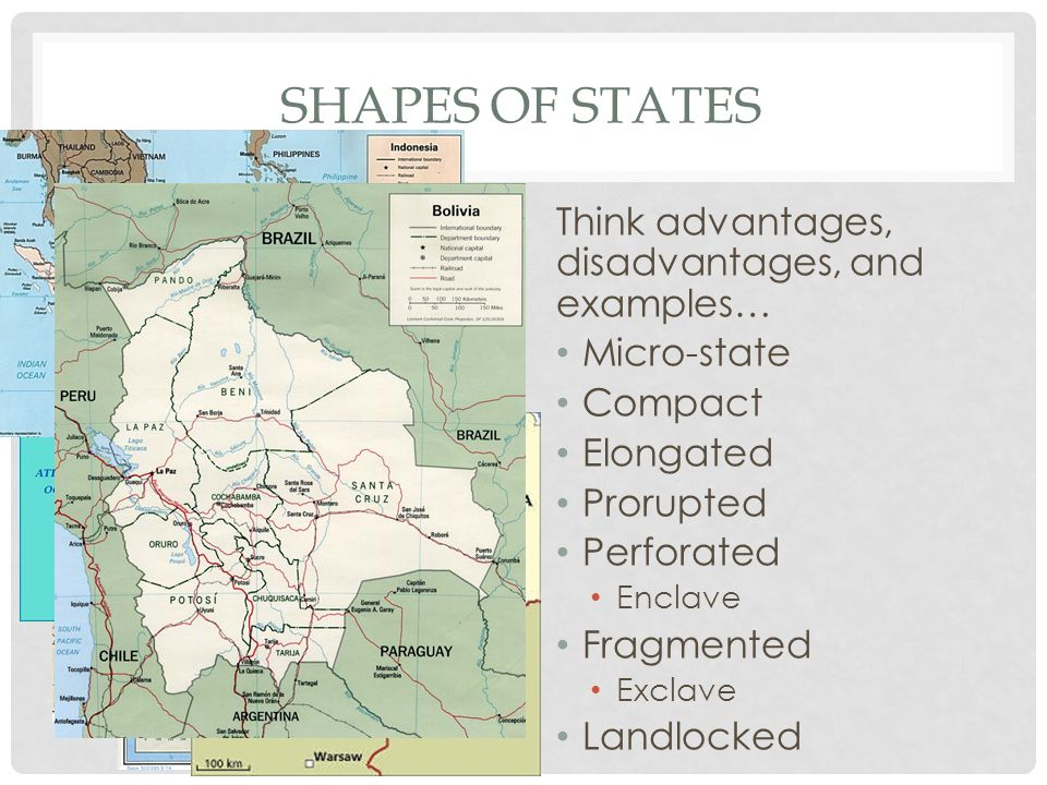 Shapes of States Think advantages, disadvantages, and examples…