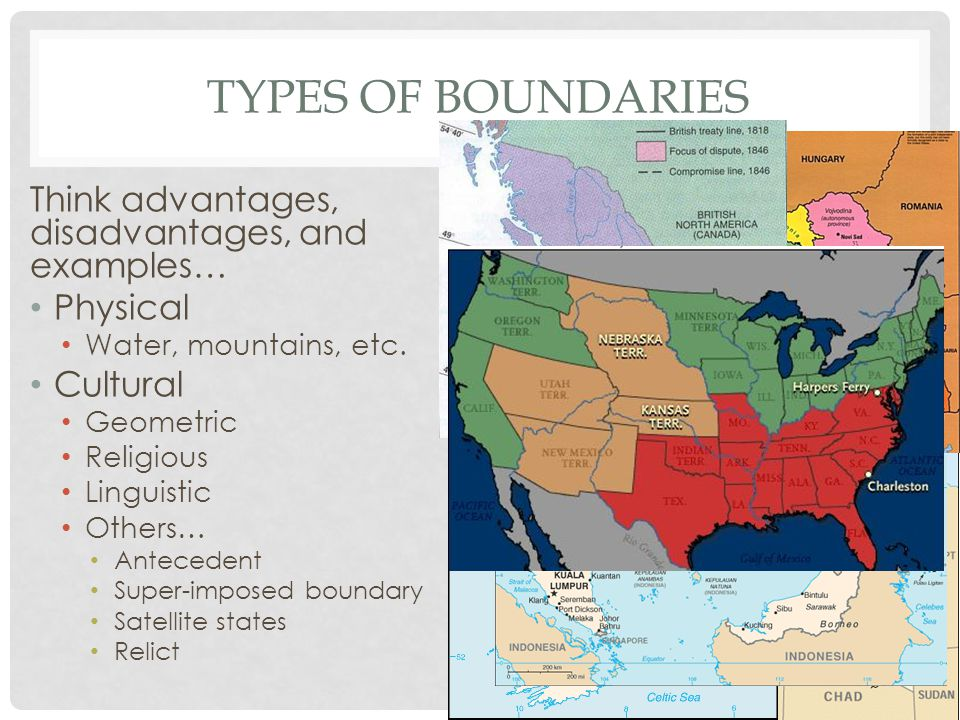 Types of Boundaries Think advantages, disadvantages, and examples…