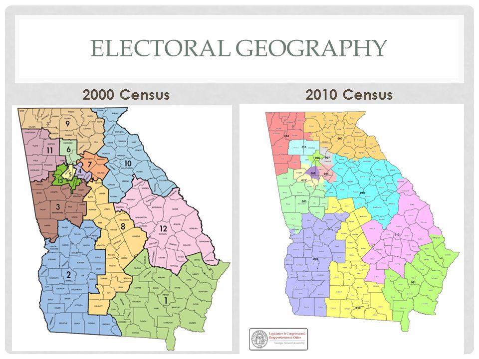 Electoral geography 2000 Census 2010 Census