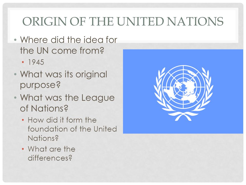 Origin of the United Nations