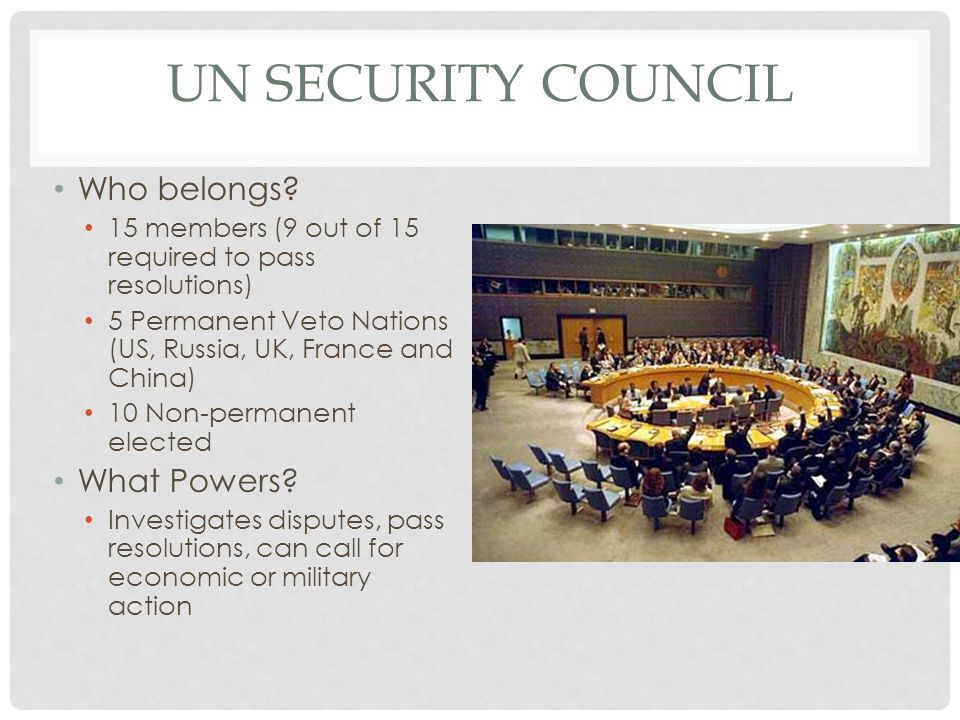 UN Security Council Who belongs What Powers