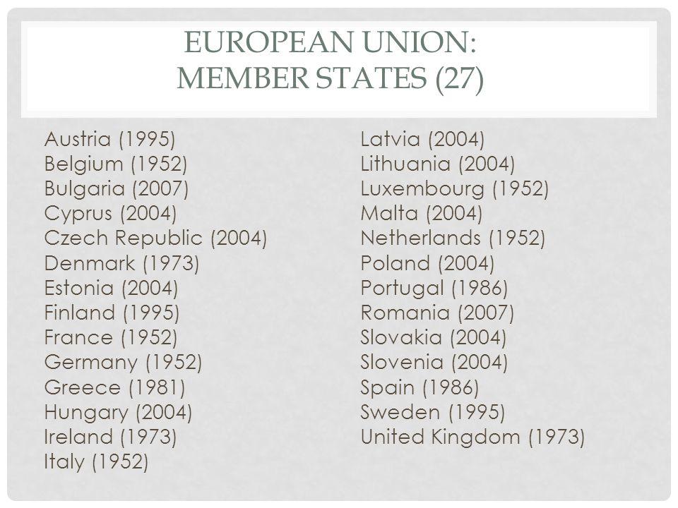 European Union: Member States (27)