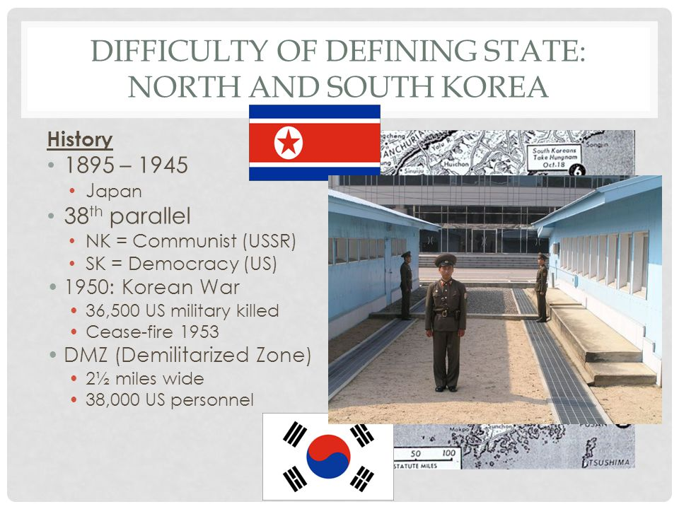 Difficulty of Defining State: North and South Korea