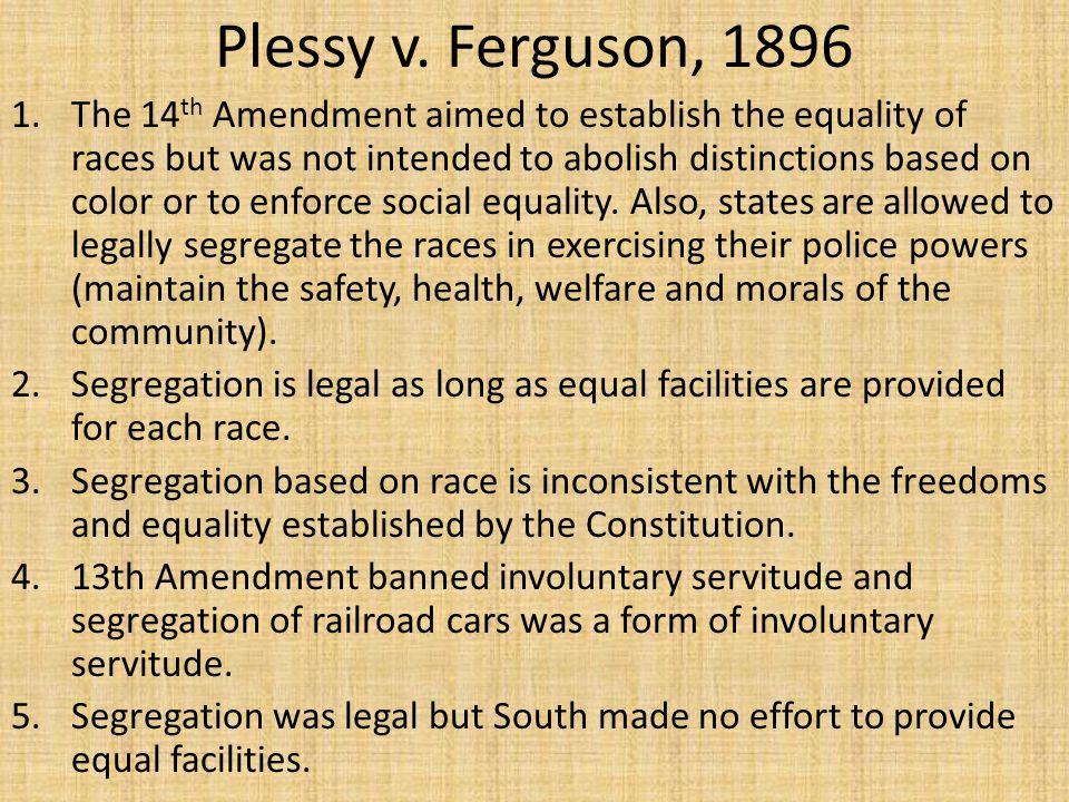 Plessy v. Ferguson, 1896