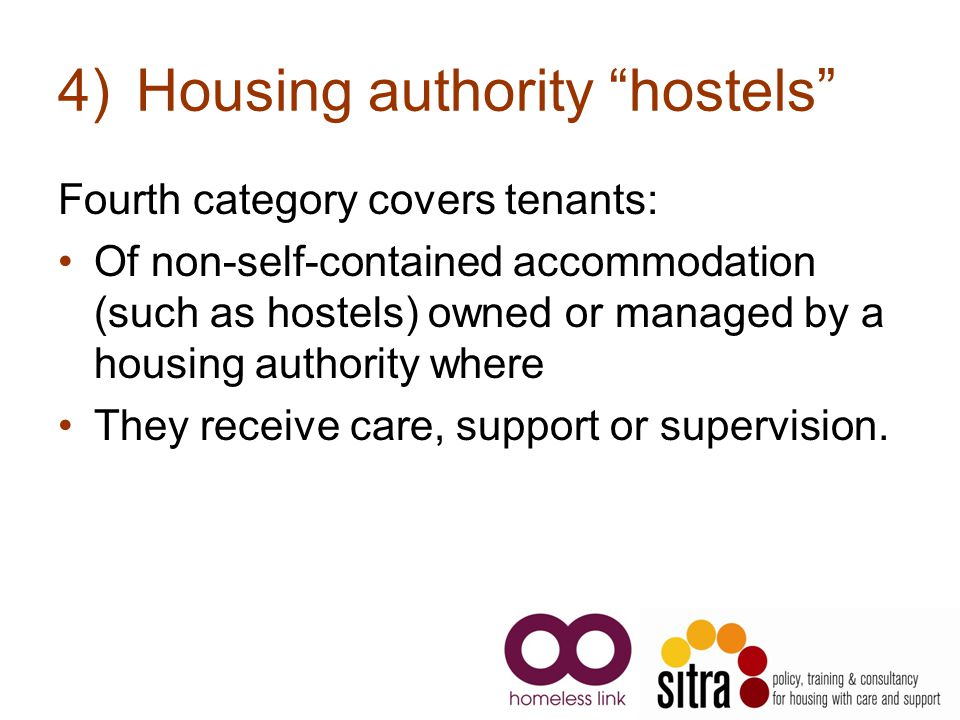 Housing authority hostels