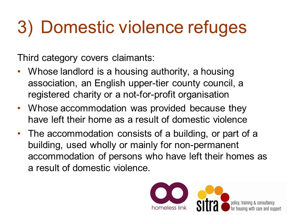 Domestic violence refuges