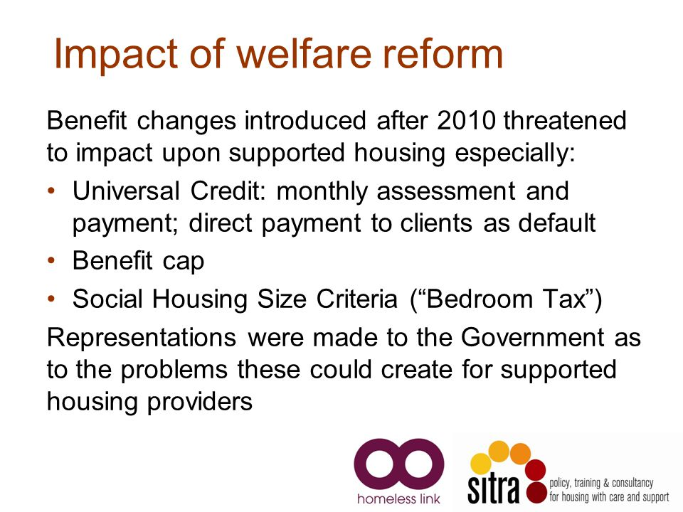 Impact of welfare reform