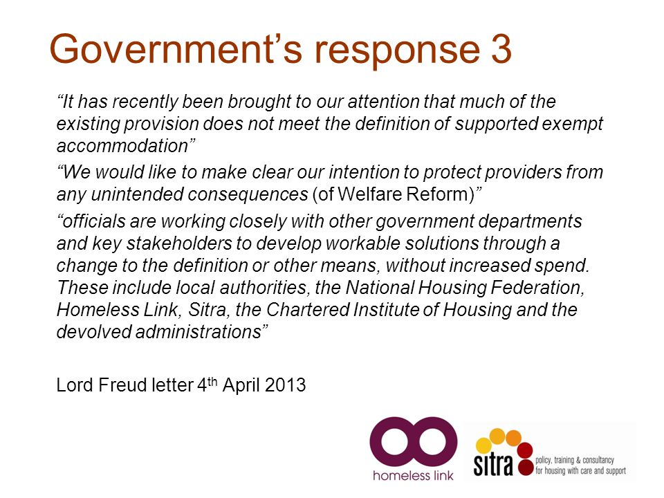 Government's response 3