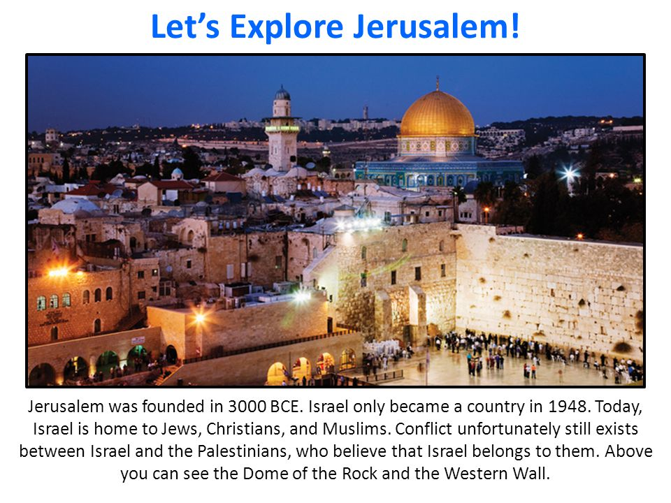 Let's Explore Jerusalem!