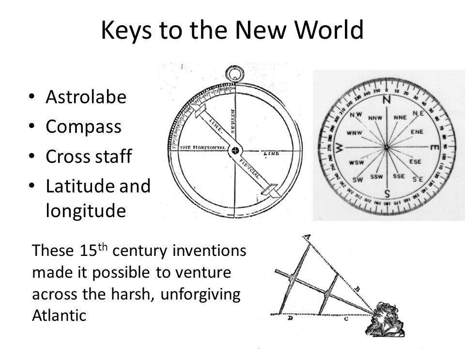Keys to the New World Astrolabe Compass Cross staff