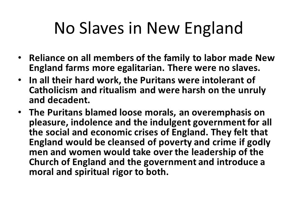 No Slaves in New England