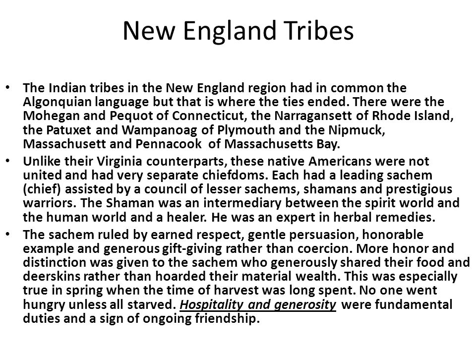 New England Tribes