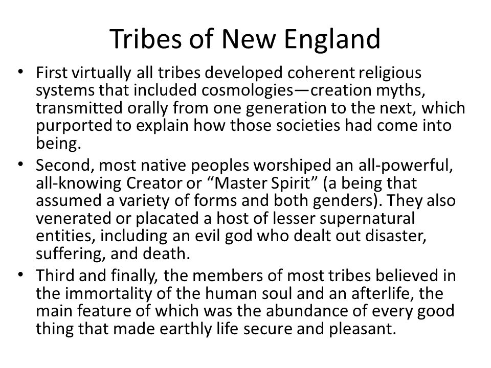Tribes of New England