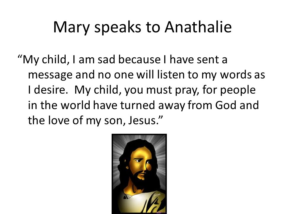 Mary speaks to Anathalie