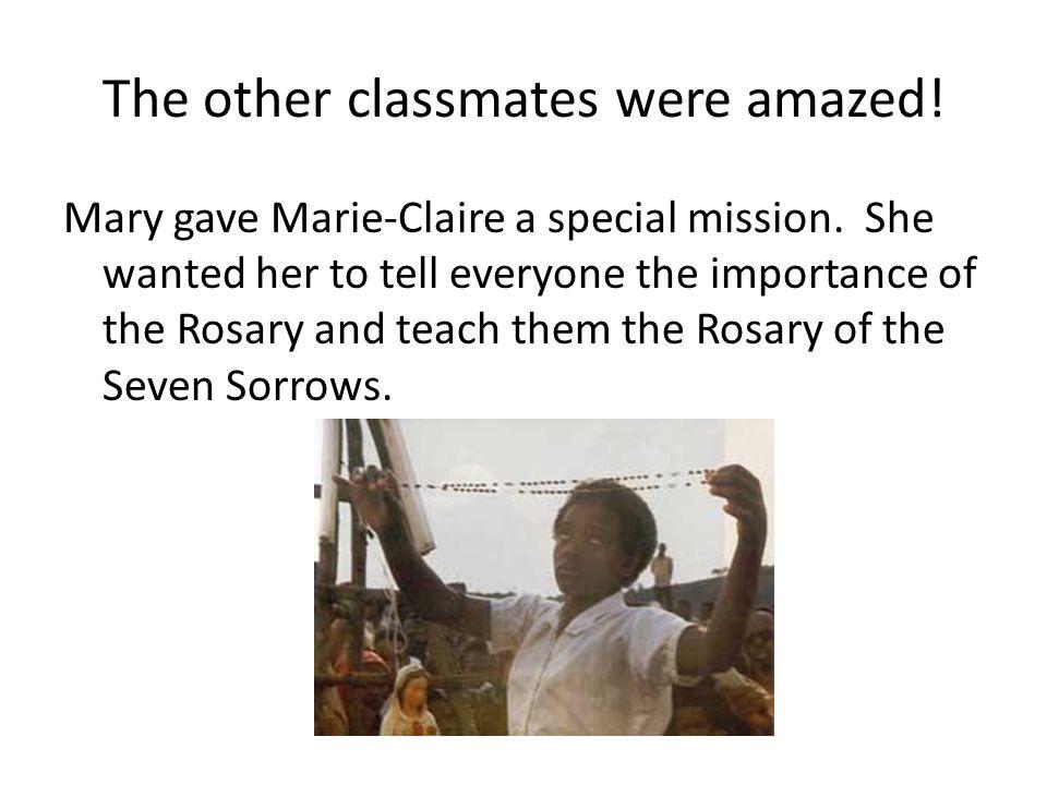 The other classmates were amazed!