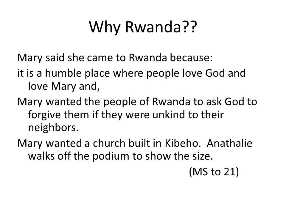 Why Rwanda