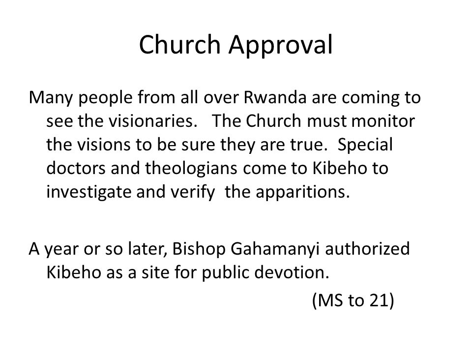 Church Approval