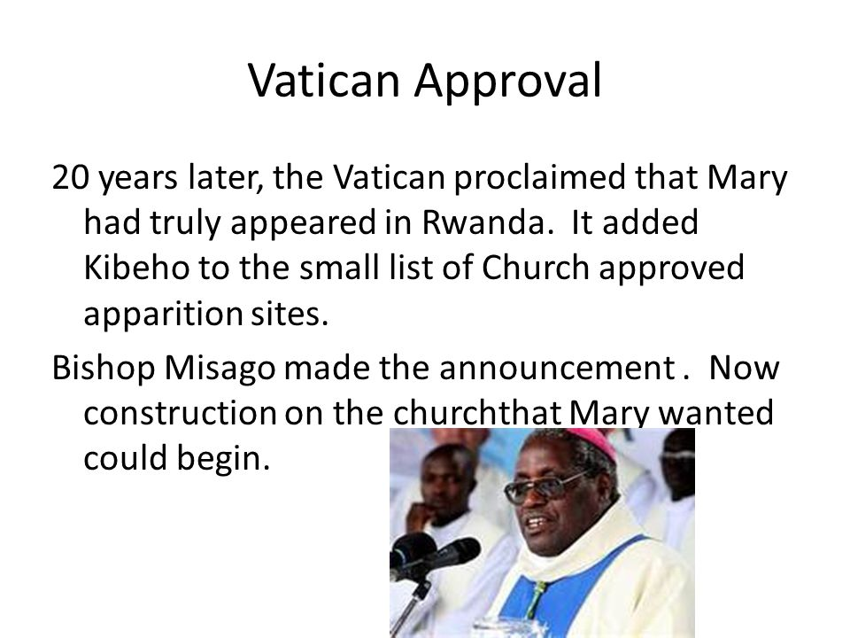 Vatican Approval