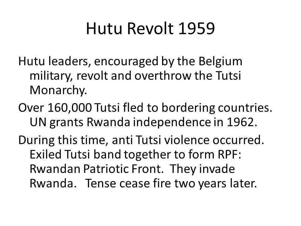 Hutu Revolt 1959