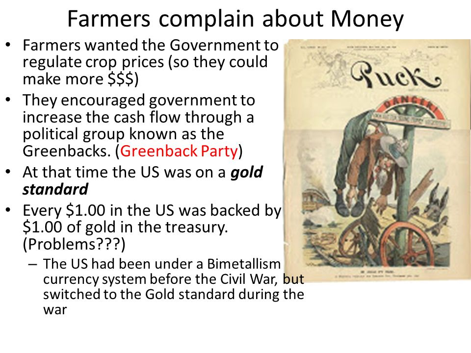 Farmers complain about Money