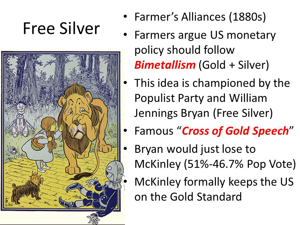 Free Silver Farmer's Alliances (1880s)