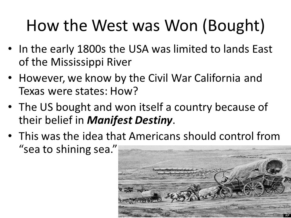 How the West was Won (Bought)