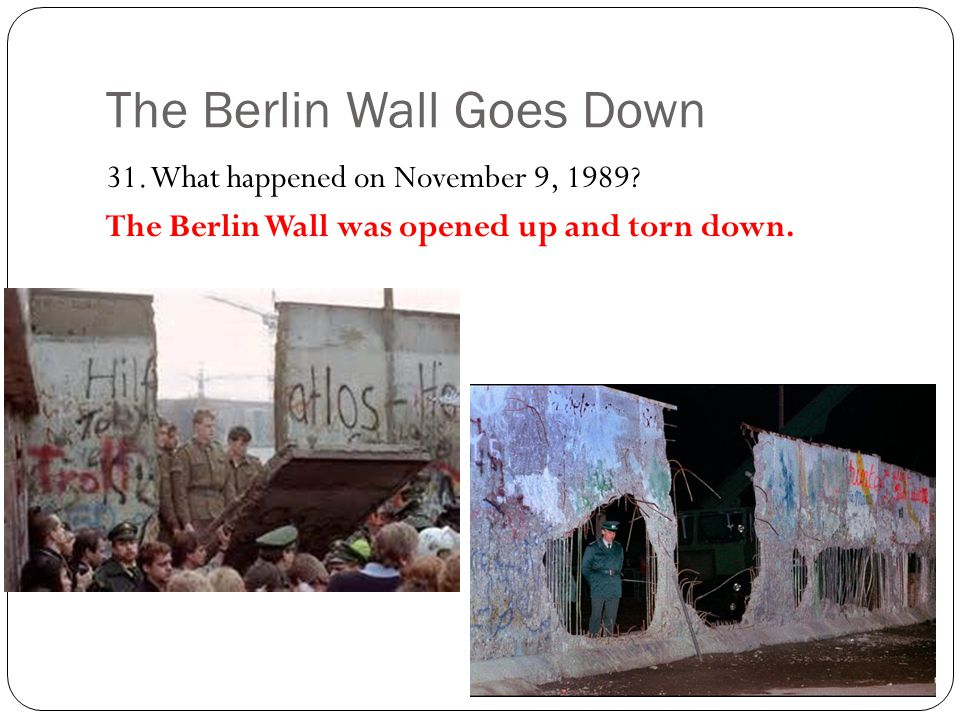 The Berlin Wall Goes Down