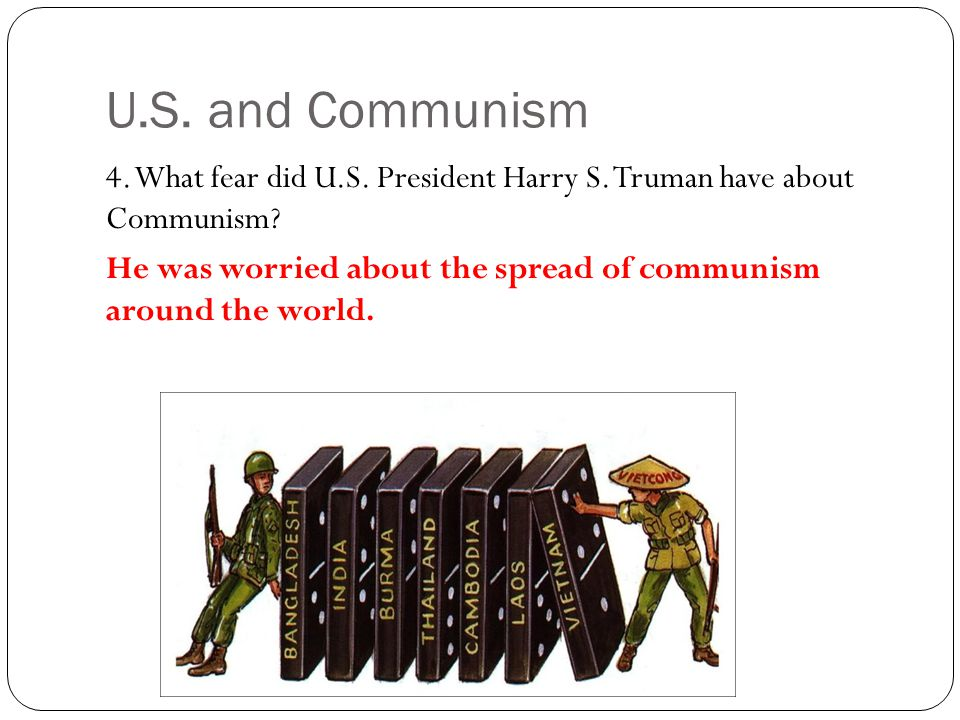 U.S. and Communism