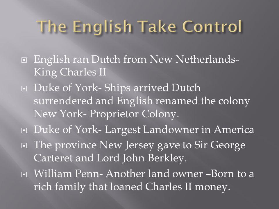 The English Take Control