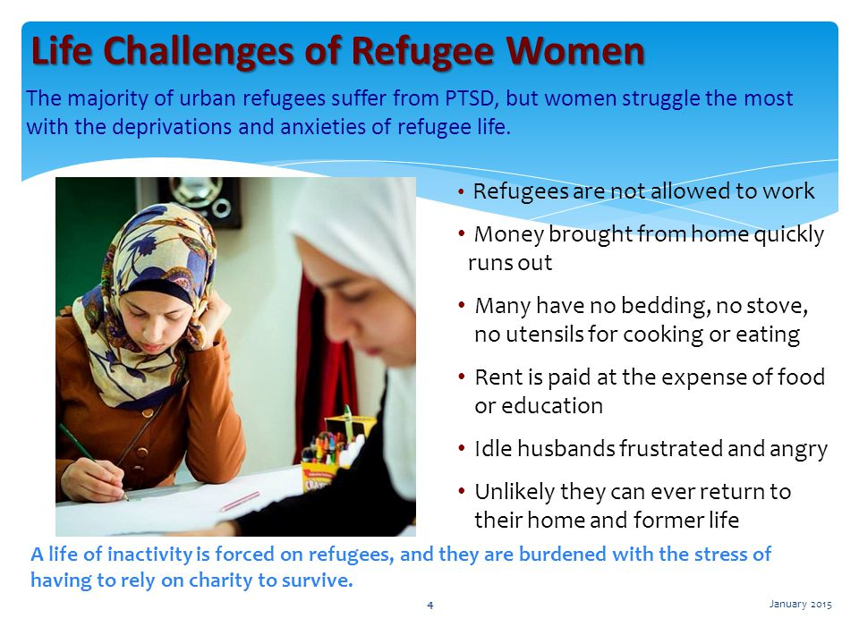 Life Challenges of Refugee Women