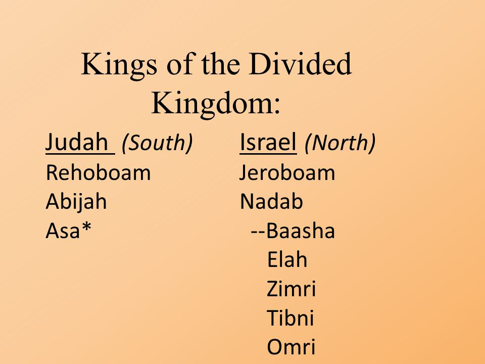 Kings of the Divided Kingdom: