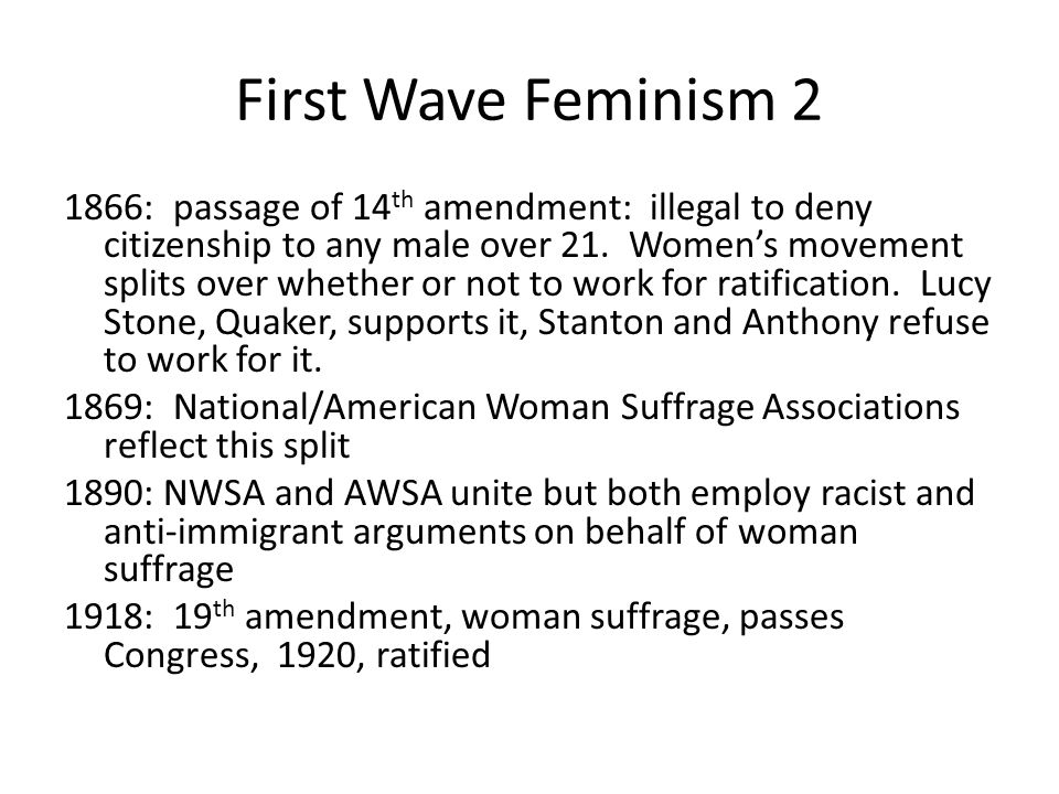 First Wave Feminism 2