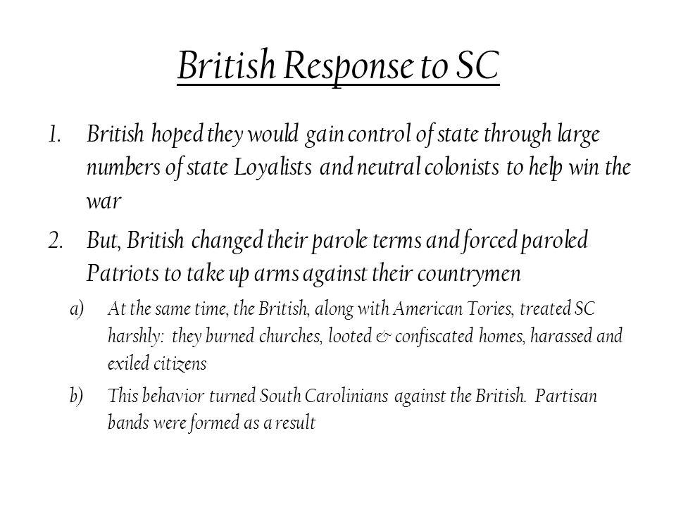 British Response to SC