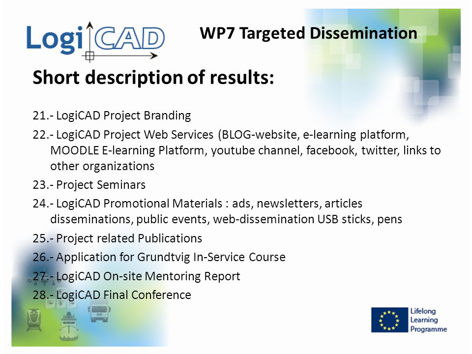 WP7 Targeted Dissemination