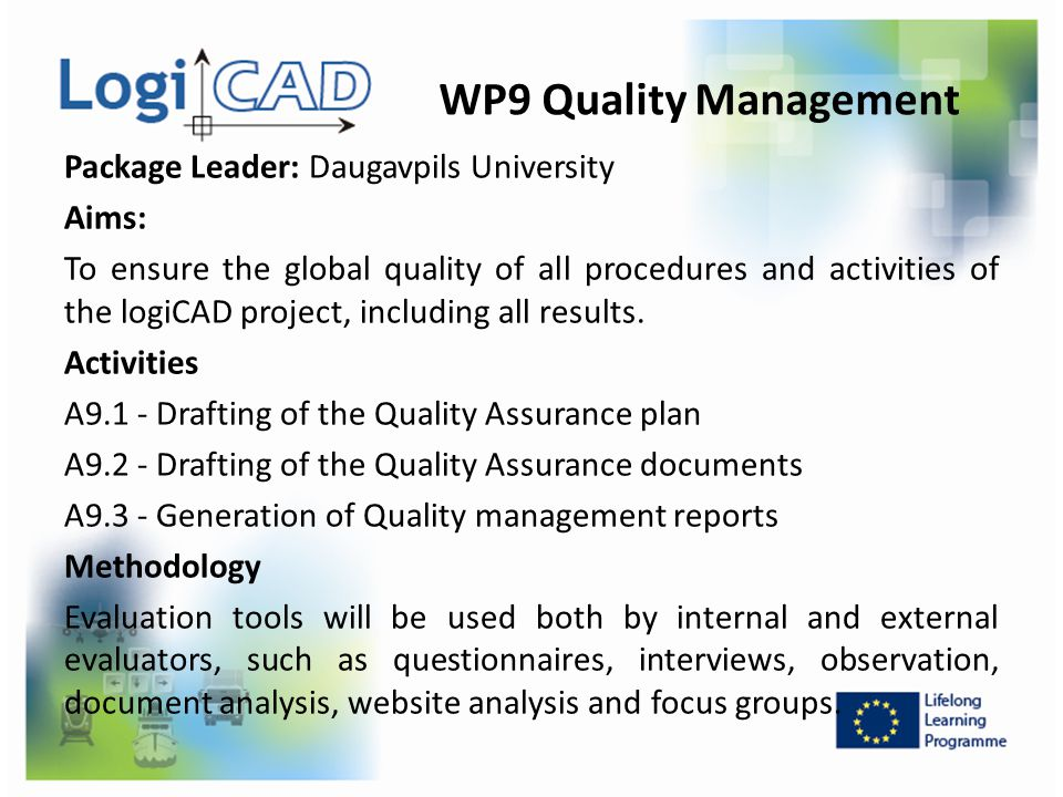 WP9 Quality Management