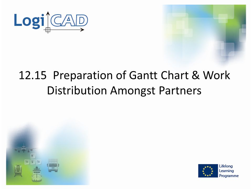 12.15 Preparation of Gantt Chart & Work Distribution Amongst Partners