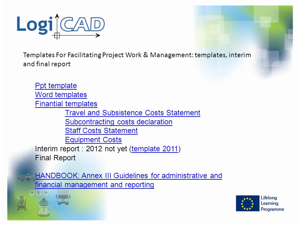 Templates For Facilitating Project Work & Management: templates, interim and final report