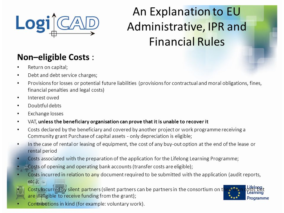 An Explanation to EU Administrative, IPR and Financial Rules