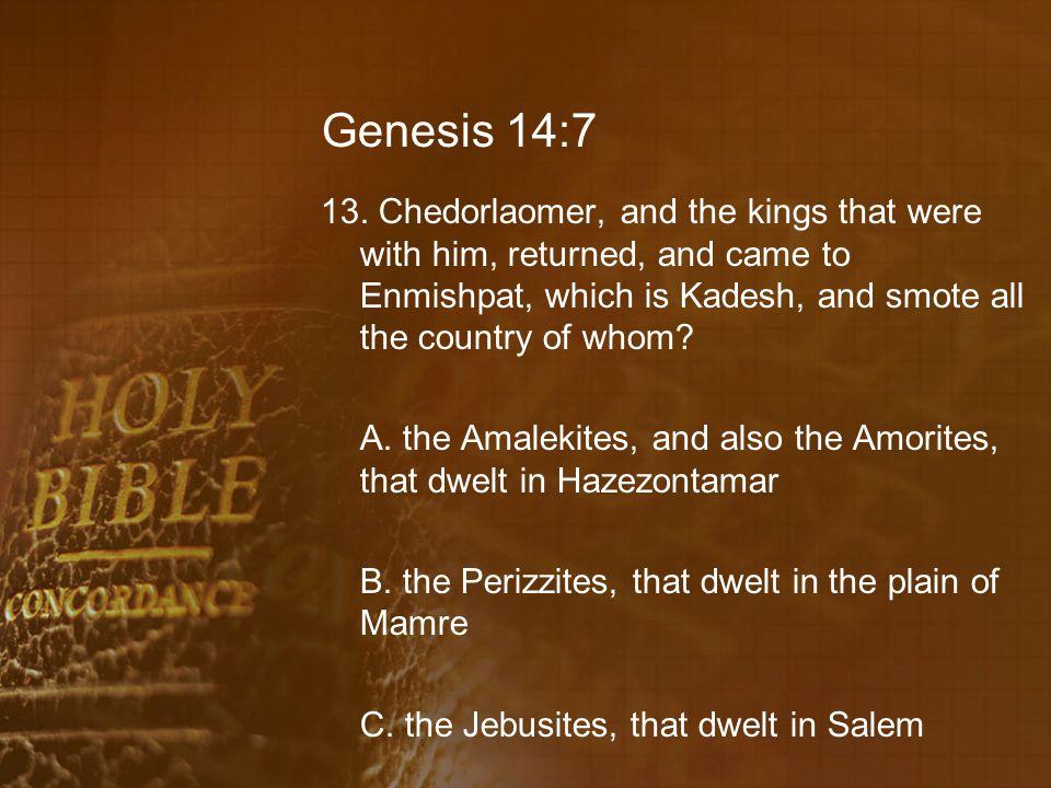 Genesis 14:7