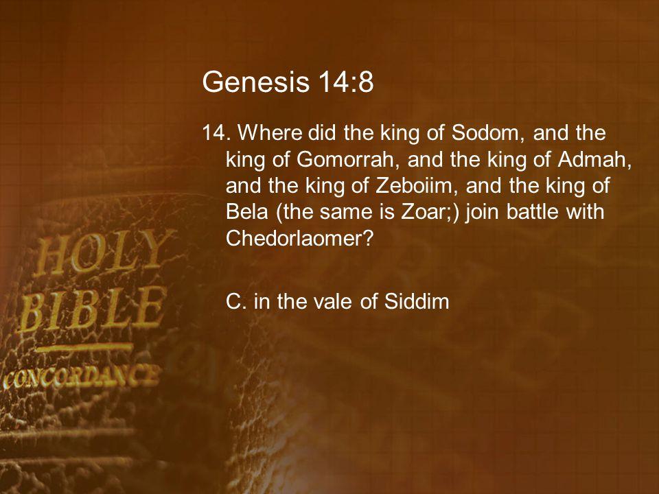Genesis 14:8