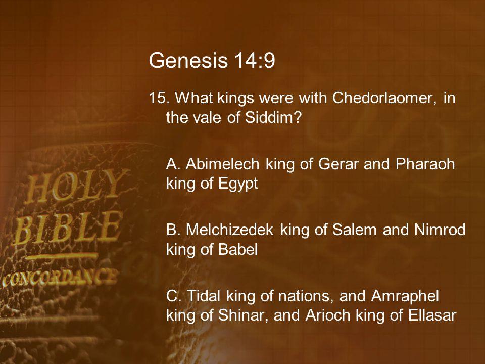 Genesis 14:9