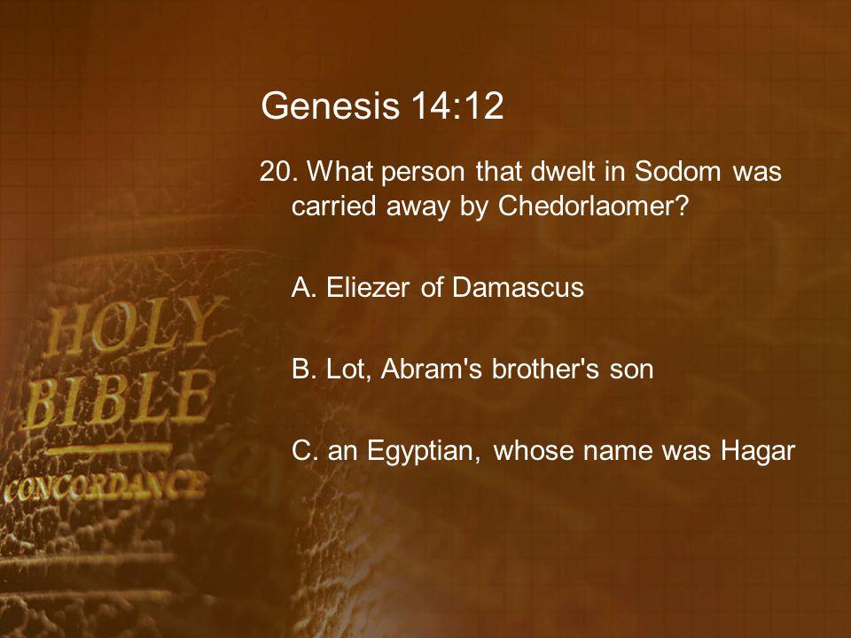 Genesis 14:12