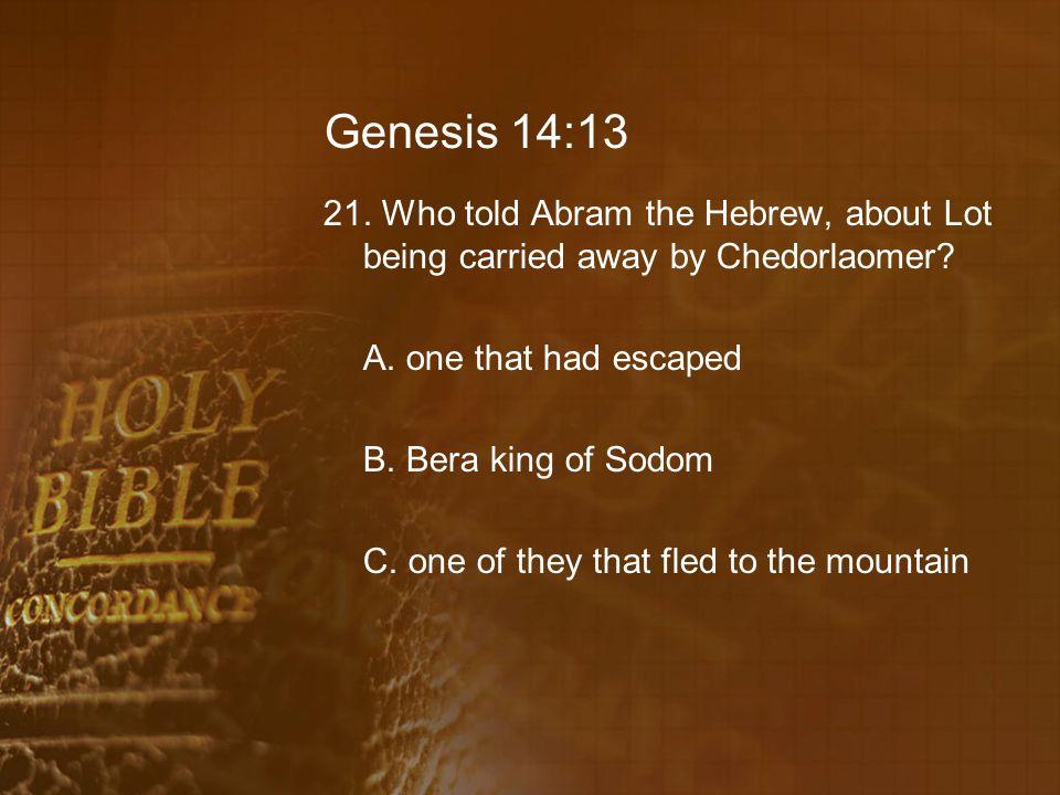 Genesis 14:13