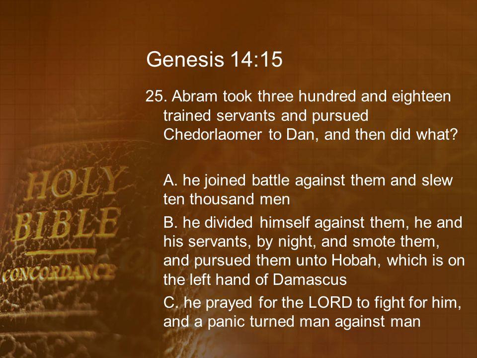 Genesis 14:15