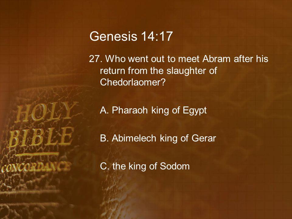 Genesis 14:17