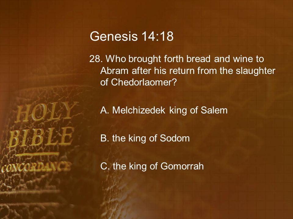 Genesis 14:18